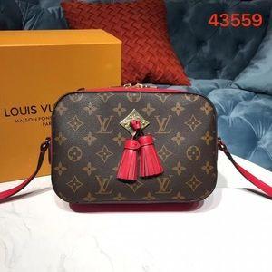 Louis Vuitton saintonge crossbody red